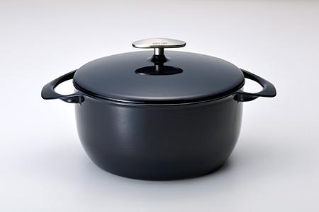【085P003】[UNILLOY(ユニロイ)] キャセロール(ホーロー鍋) 22cm 藍