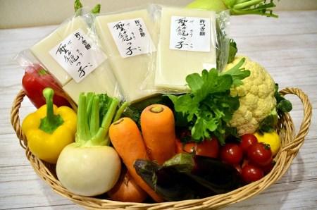 聖籠産米切り餅・季節野菜セット