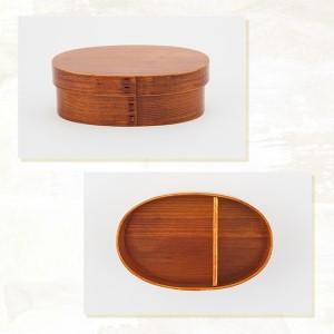 【漆器たかやすみ】わっぱ弁当箱(中)すり漆塗り1個 うるし塗  木製 弁当箱 ランチボックス