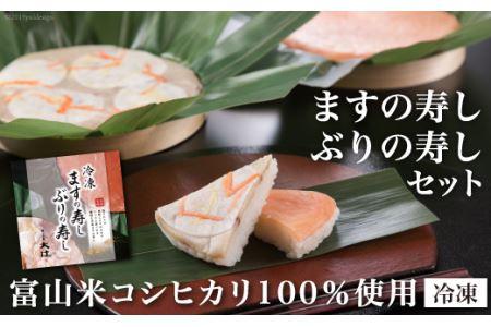 """[№5559-0004]""""冷凍""""ますの寿し・ぶりの寿しセット"""