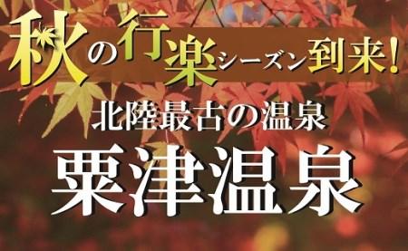 102001. 【北陸最古の温泉地!】粟津温泉ペア宿泊券