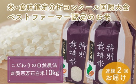 加賀百万石特別栽培米コシヒカリ「白米」10kg2ヶ月連続お届け
