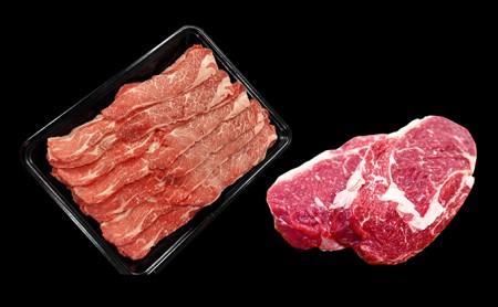 ≪月形熟成牛≫しゃぶしゃぶ&リブロースステーキセット