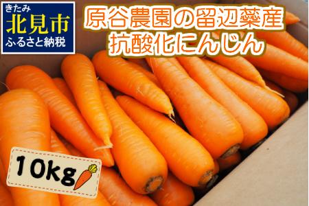 【A-012】原谷農園の留辺蘂産抗酸化にんじん10kg【2021年秋発送】