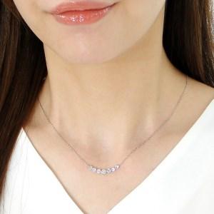 プラチナ 1.00ct ラインダイヤモンド ネックレス