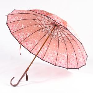 高級雨傘「桜吹雪」桃色