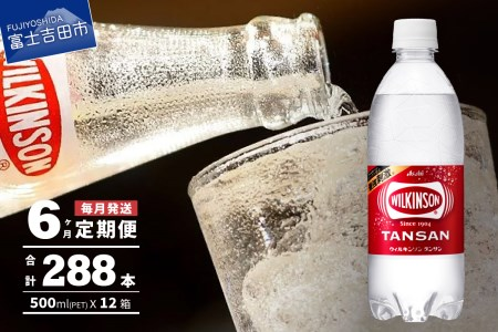 【6ヶ月お届け!】炭酸水 ウィルキンソン タンサン 2箱 (48本入り) 定期便