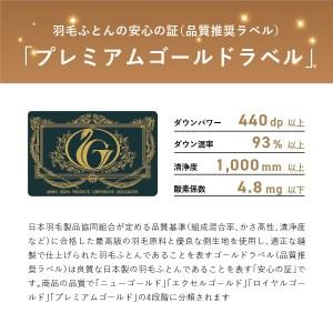 羽毛掛けふとん(セミダブル)ポーランド産マザーグース95%【創業100年】