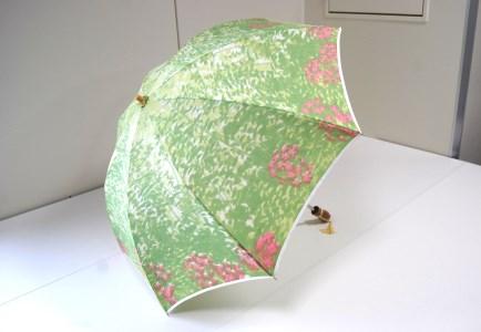 ほぐし織【日傘】 樹海グリーン