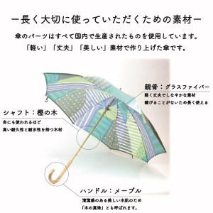 【新】高級晴雨兼用傘「マルサンカクシカク」(青)