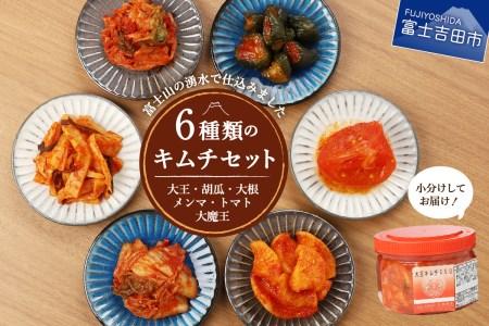 富士の湧水仕込みキムチ彩りセット(350g×6種類セット)