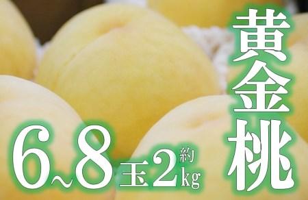 B-103.甲州市産黄金桃6~8玉【80】