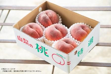 【2021年発送】 山梨県産  完熟桃 白鳳系 約2kg (4〜8玉)