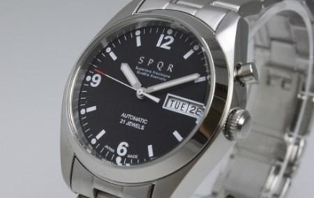 020-011 ≪腕時計 機械式≫SPQR Ventuno dd(ブラック)