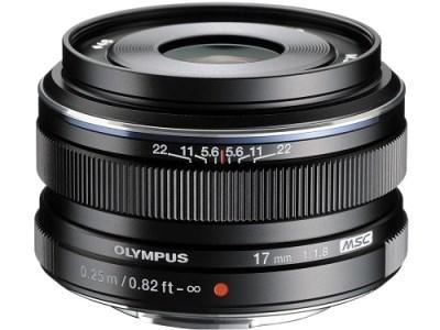 【AQQ-02】交換レンズ M.ZUIKO DIGITAL 17mmF1.8(ブラック)