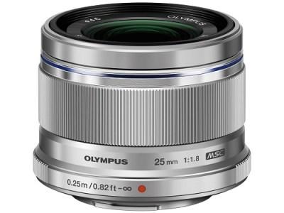【AOC-01】交換レンズ M.ZUIKO DIGITAL 25mmF1.8(シルバー)