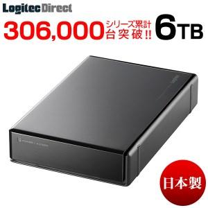 【060-10】ロジテック HDD 6TB USB3.1(Gen1) / USB3.0 国産 TV録画 省エネ静音 外付け ハードディスク【LHD-EN60U3WS】