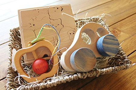 木のおもちゃ 信州出産祝いセット