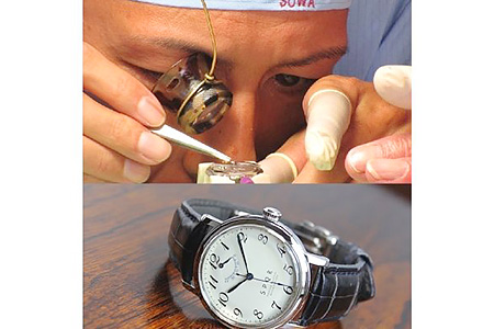 060-001 < 腕時計 > SPQR 機械式時計 組立体験B