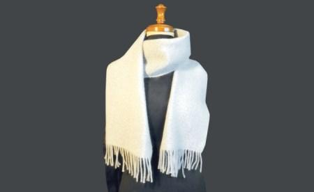 006-004 < 手織物 > 手織マフラー(カシミヤ)秋冬用 B