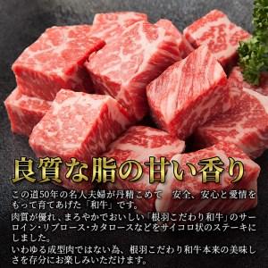 【サイコロステーキ400g】根羽こだわり和牛 牛ロース 国産黒毛和牛