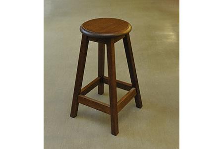 【2624-0033】【家具職人手造り】木製スツールのおもてなし(大)