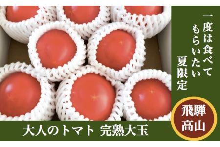 40歳からの大人のトマト完熟大玉1kg(8〜10月発送)[飛騨高山産] a502