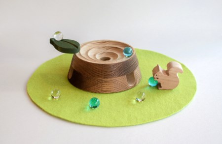 【オークヴィレッジ】木のおもちゃ  しずくの森あそび 〔国産材 木製家具〕 c541