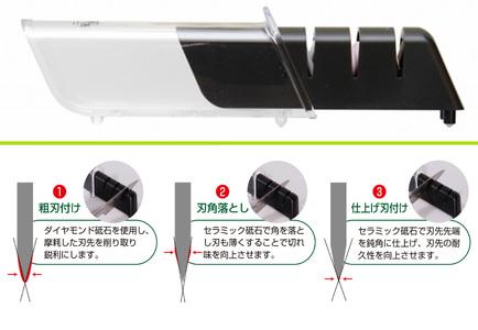 H6-33 関孫六  ダイヤモンド&セラミックシャープナー
