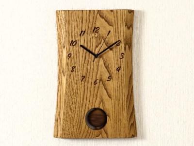 栗 一枚板時計 JTK002-OBK  D38-02