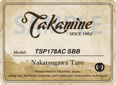 700001 タカミネ TSP178AC SBB