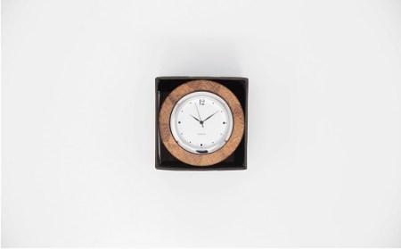 59E002 〈ツバキラボ〉寄木の小さな置き時計