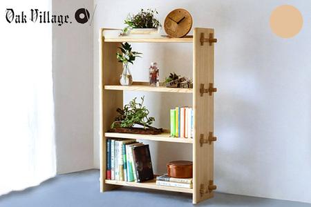 【2638-0031】組み立て棚 4段 ナチュラル【国産材 木製家具】