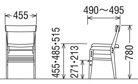 【2638-0098】カリモク【学習デスクセット:ピュアナチュールA】SU3300(SS3320) AU0316 XT0611