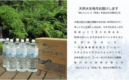 【19000102】定期便 お試しコース(3ヶ月) まいにちが、天然水。「大雪旭岳源水」