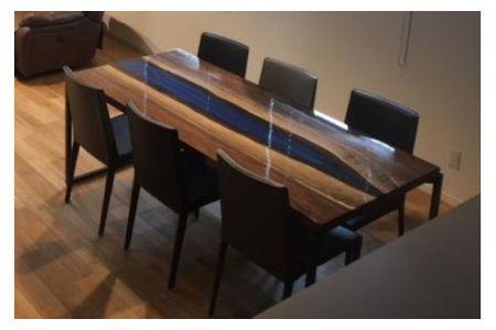 【2607-2009】※世界に一つだけのダイニングテーブル(赤)