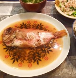 a12-037 お頭付き「金目鯛のやわらか煮付け」セット