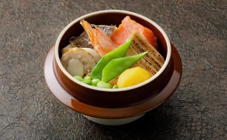 本格料亭の釜めし2種セット【海鮮釜めし・アサリとバターの釜めし】