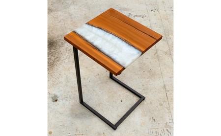 レジン サイドテーブル 長方形テーブル