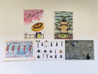 画家・くぼやまさとるのポストカード(10枚セット)