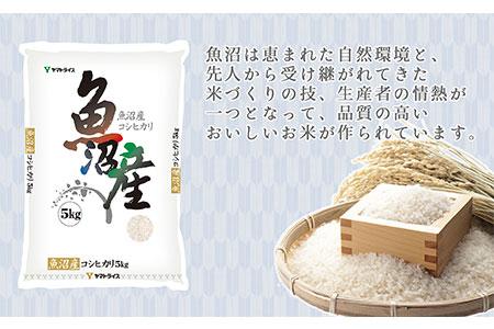 新潟県魚沼産コシヒカリ 5kg 安心安全なヤマトライス H074-057