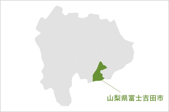 山梨県富士吉田市の地図