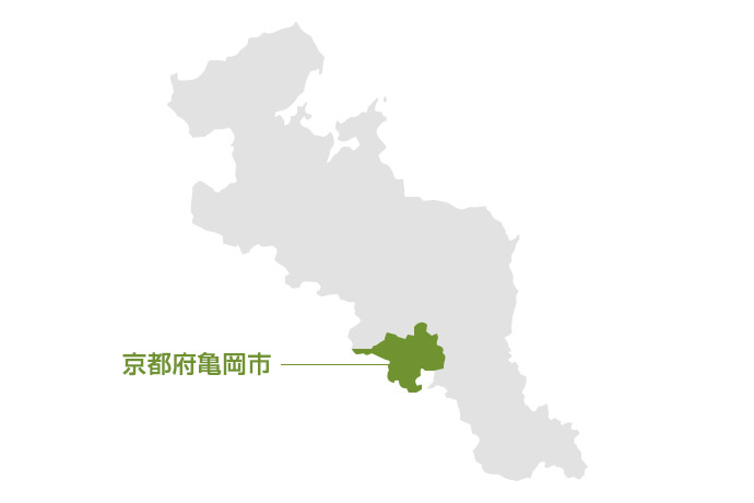 京都府亀岡市の地図