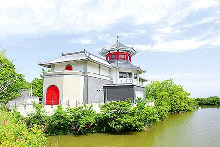 松帆銅鐸と南あわじ市滝川記念美術館玉青館(ぎょくせいかん)