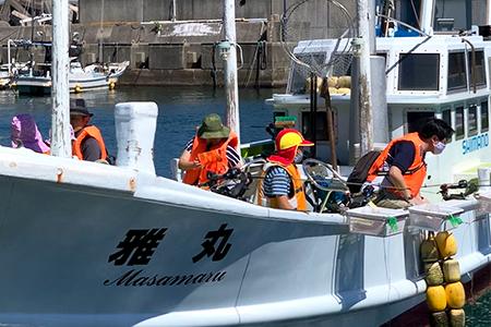 現役漁師と漁船で楽しむ釣り体験