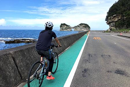 南紀熊野ジオパークガイドとサイクリング