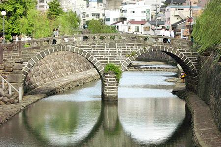 日本三名橋「眼鏡橋」