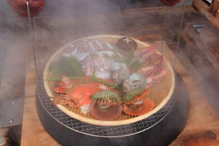 ④鉄輪の地獄蒸し料理