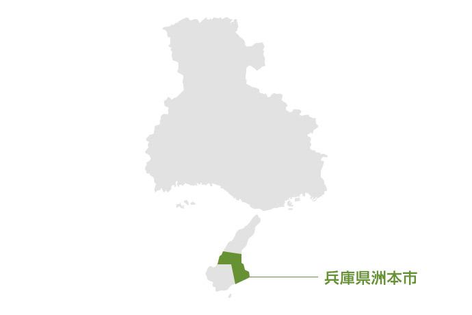 兵庫県洲本市の地図