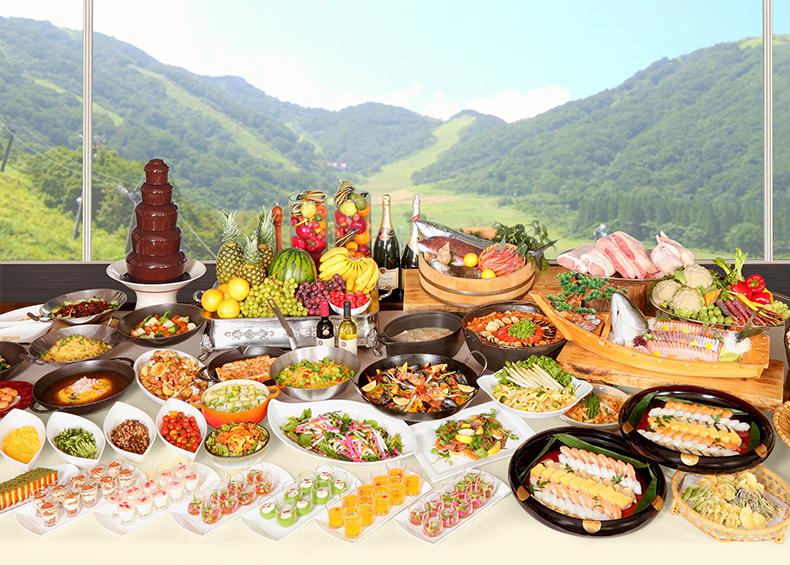 安心で安全な信州産の食材をベースに使用したここでしか味わえない信州グルメバイキング。